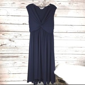Maggy London womans dress size 10 Navy Blue